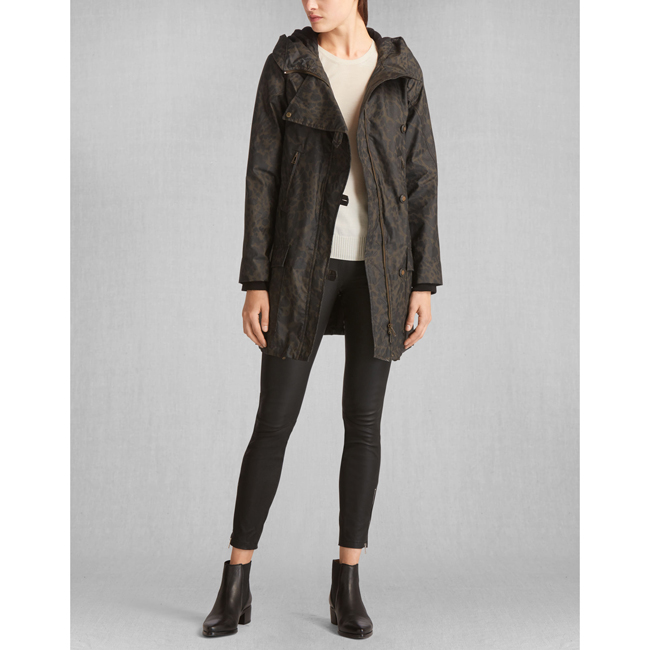 Belstaff HABLEDON COAT Women SPINACH/BLACK Outlet Store