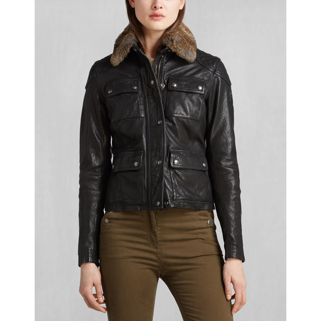 Belstaff ATTEBURY FOUR POCKET JACKET Women BLACK Outlet Store