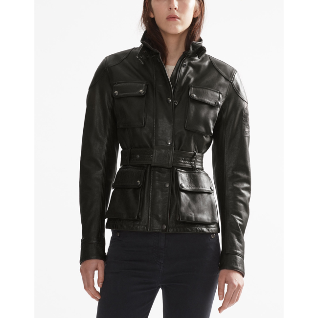 Belstaff CLASSIC TOURIST TROPHY JACKET Women ANTIQUE BLACK Outlet Store
