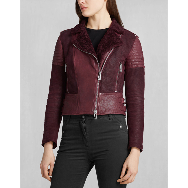 Belstaff ELLSWORTH BLOUSON Women CLARET Outlet Store