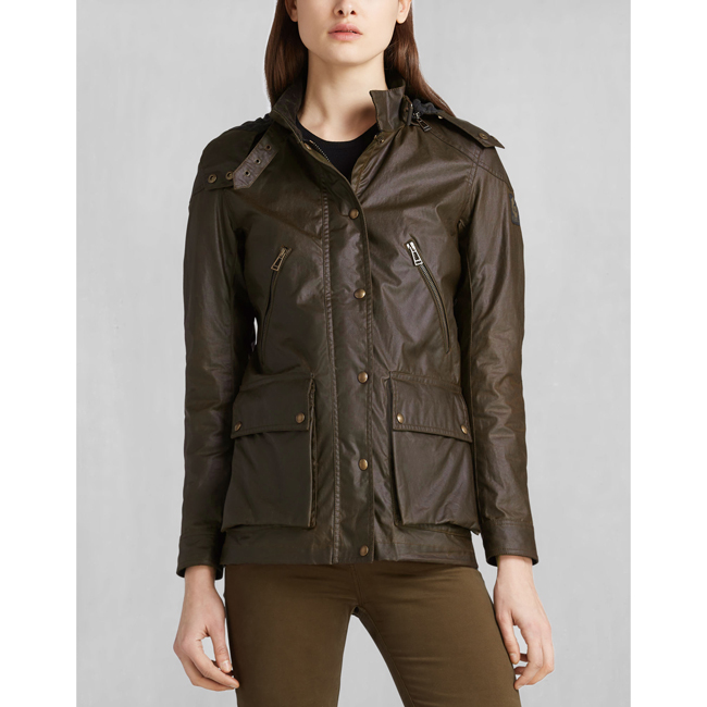 Belstaff NEW TOURMASTER 2.0 JACKET Women FADED OLIVE Outlet Store